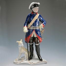 Friedrich II. mit Hund